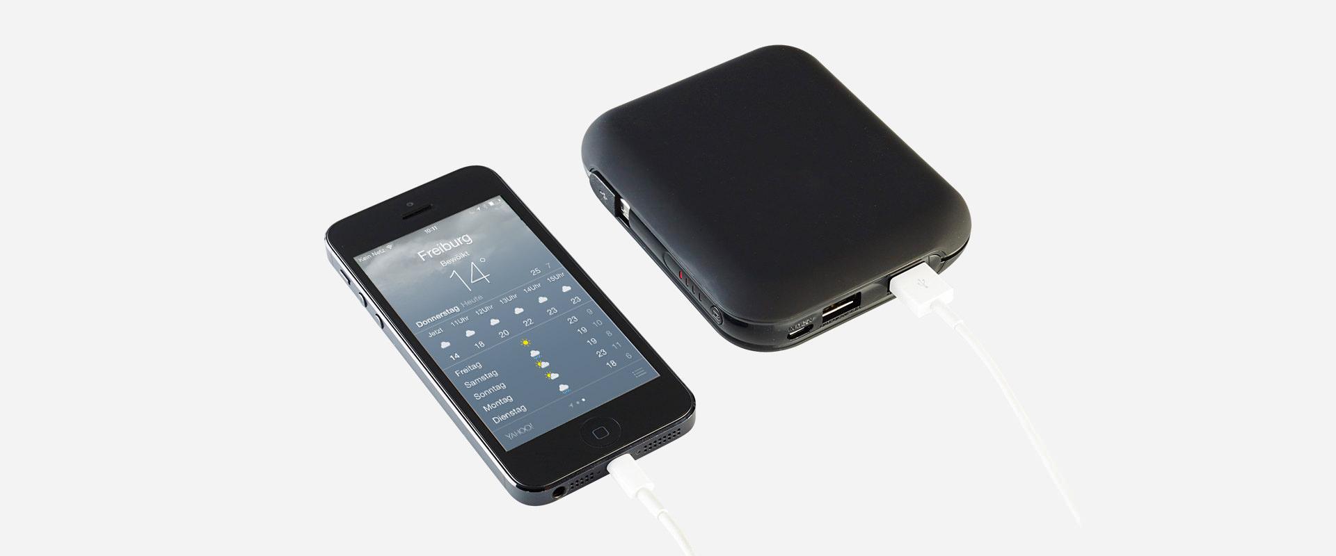 Vbee externer Akku Ladegerät mit iPhone